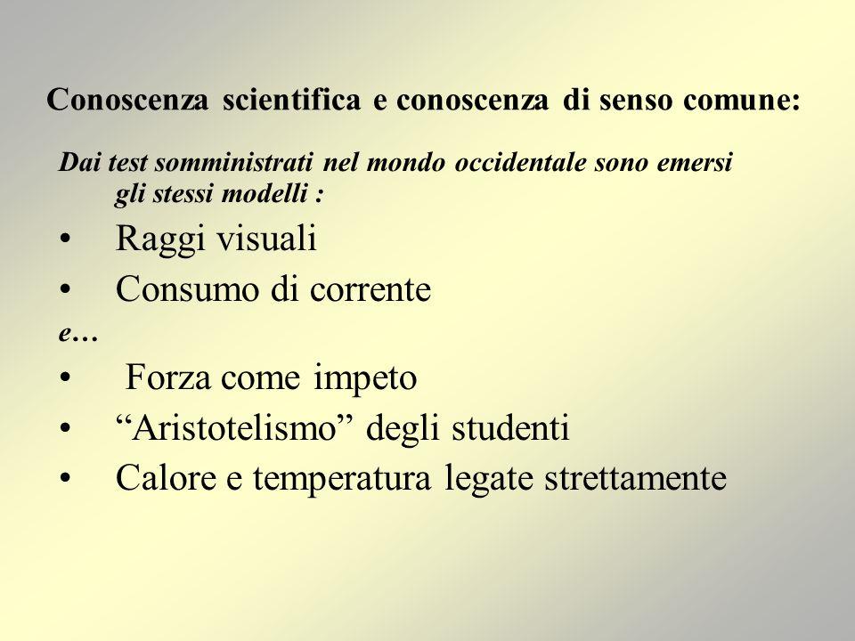 Conoscenza scientifica e conoscenza di senso comune: