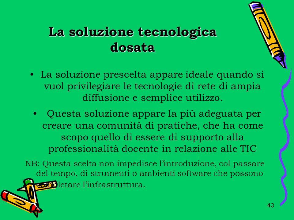 La soluzione tecnologica dosata