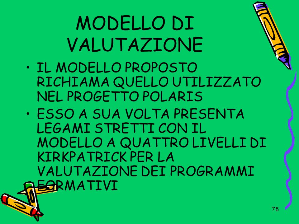 MODELLO DI VALUTAZIONE
