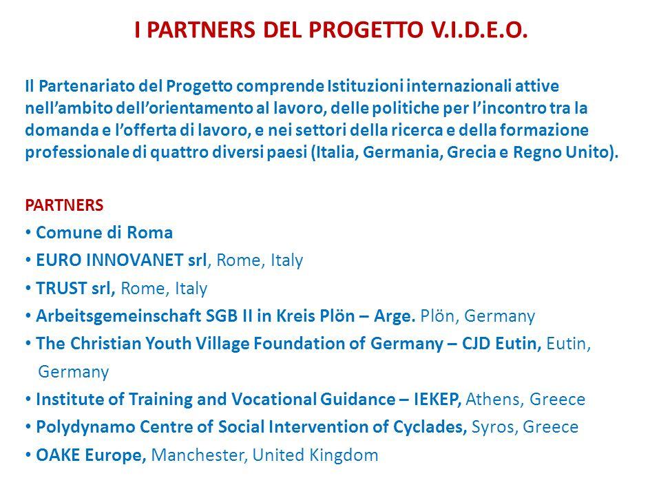 I PARTNERS DEL PROGETTO V.I.D.E.O.