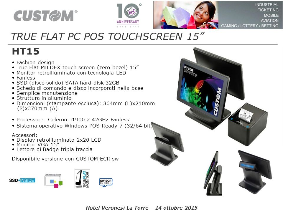 TRUE FLAT PC POS TOUCHSCREEN 15