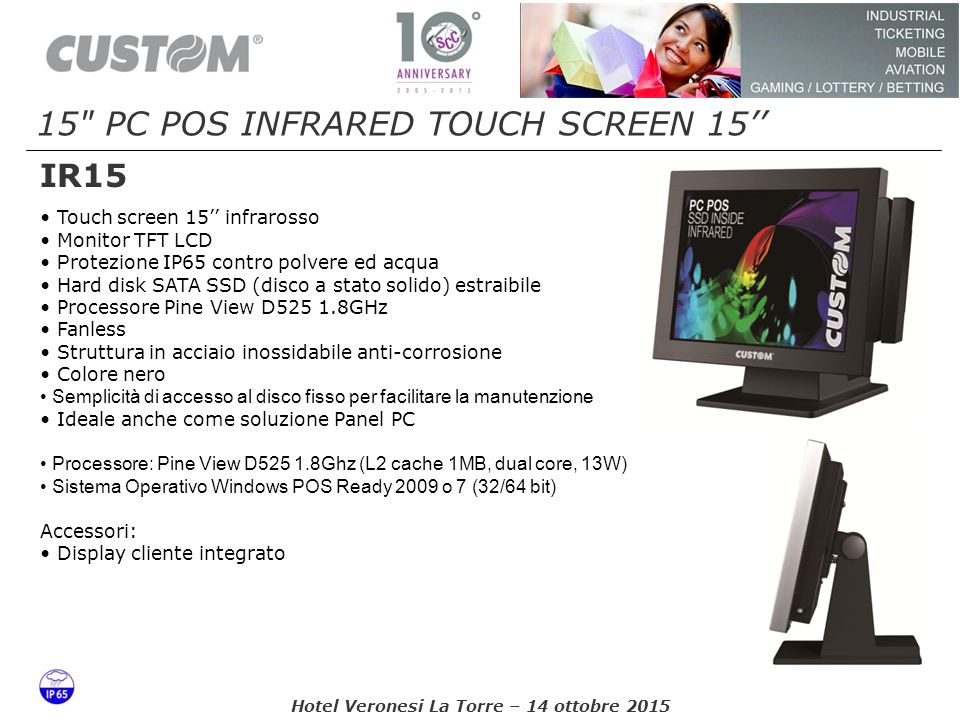15 PC POS INFRARED TOUCH SCREEN 15''