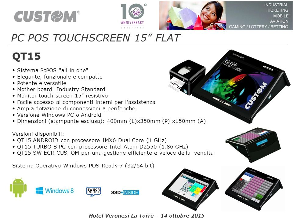 PC POS TOUCHSCREEN 15 FLAT