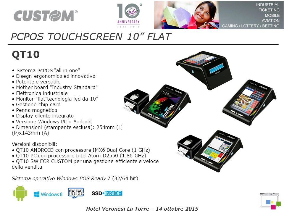 PCPOS TOUCHSCREEN 10 FLAT