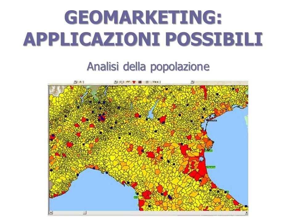 GEOMARKETING: APPLICAZIONI POSSIBILI