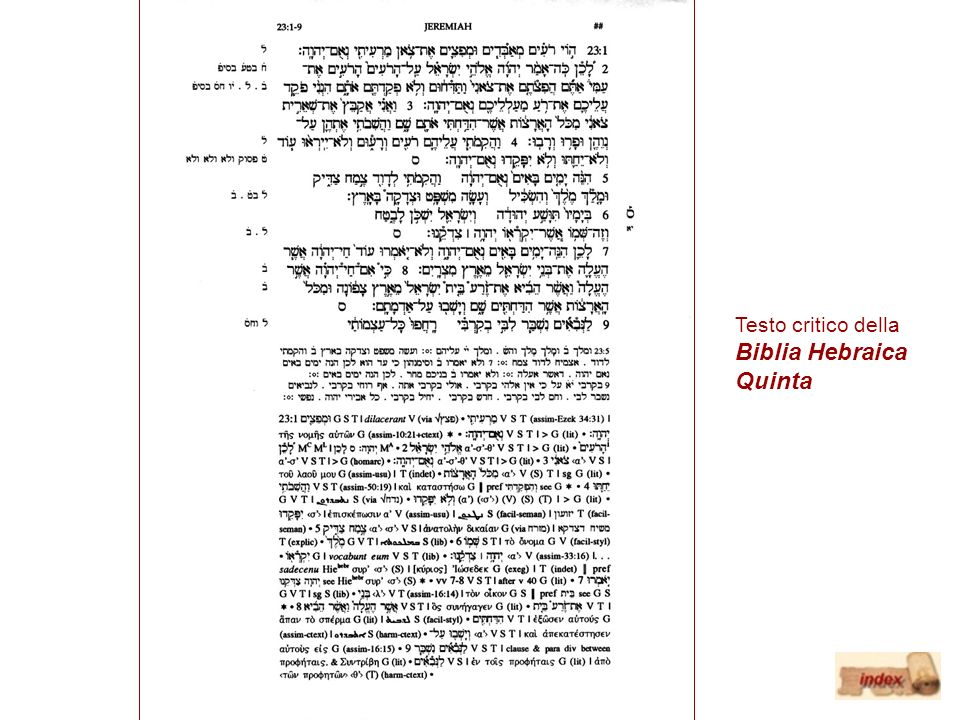 Testo critico della Biblia Hebraica Quinta