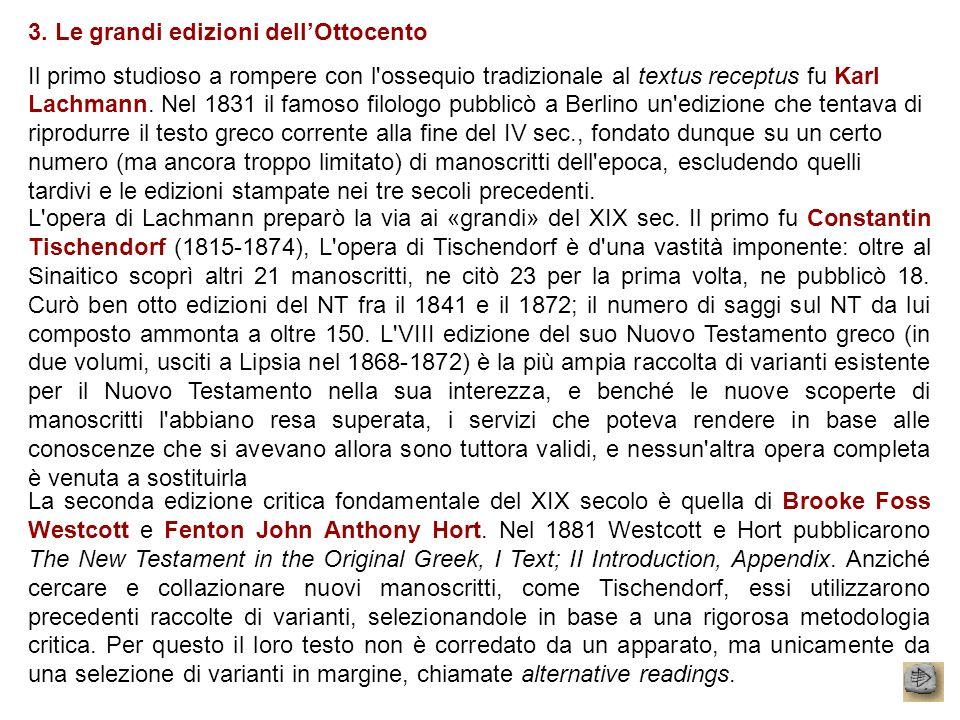 3. Le grandi edizioni dell'Ottocento