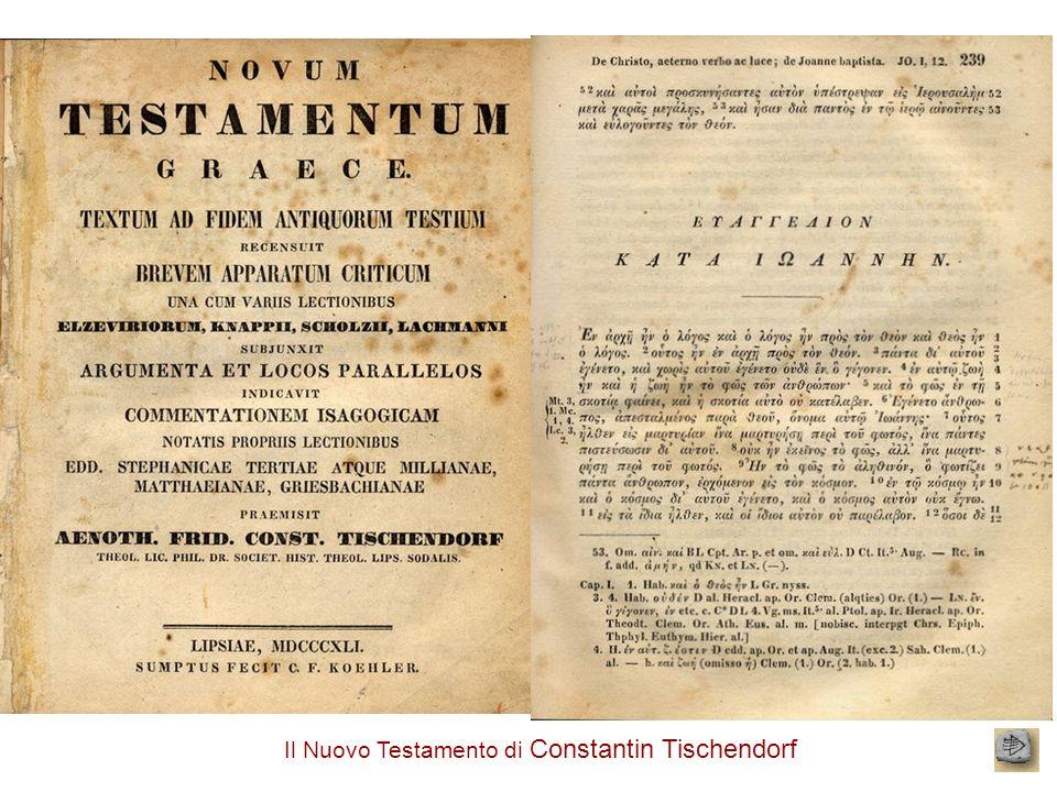 Il Nuovo Testamento di Constantin Tischendorf