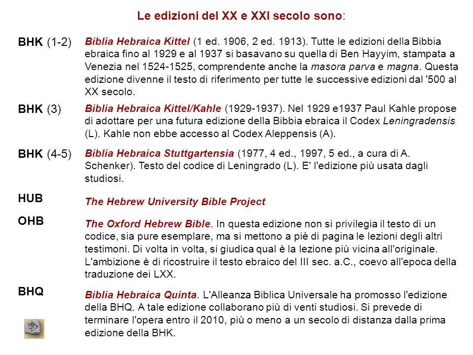 Le edizioni del XX e XXI secolo sono: