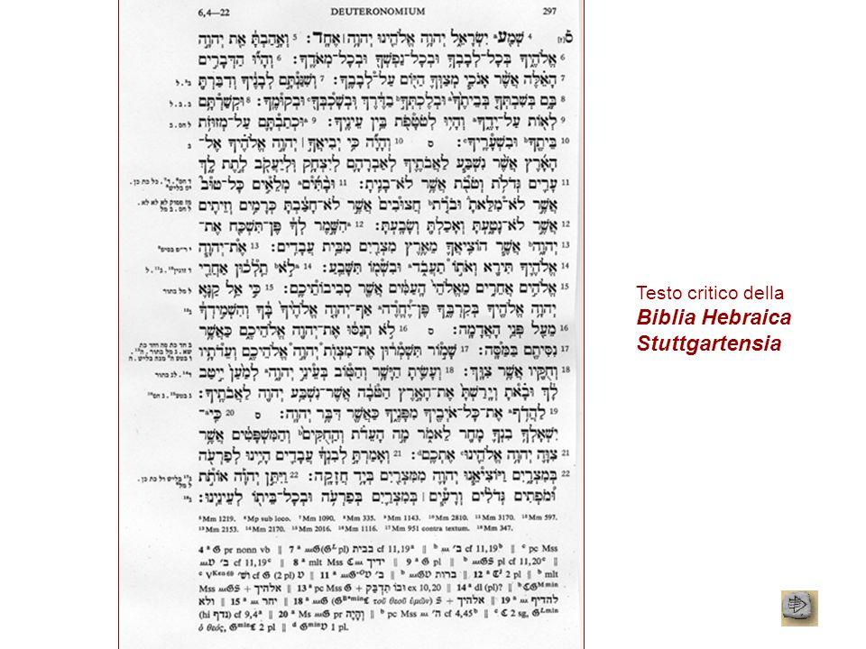 Testo critico della Biblia Hebraica Stuttgartensia