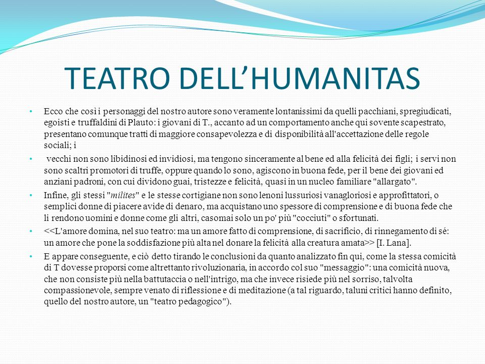 TEATRO DELL'HUMANITAS