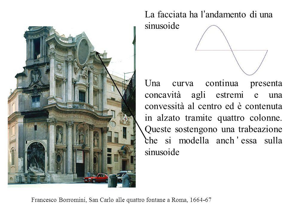 Francesco Borromini, San Carlo alle quattro fontane a Roma, 1664-67