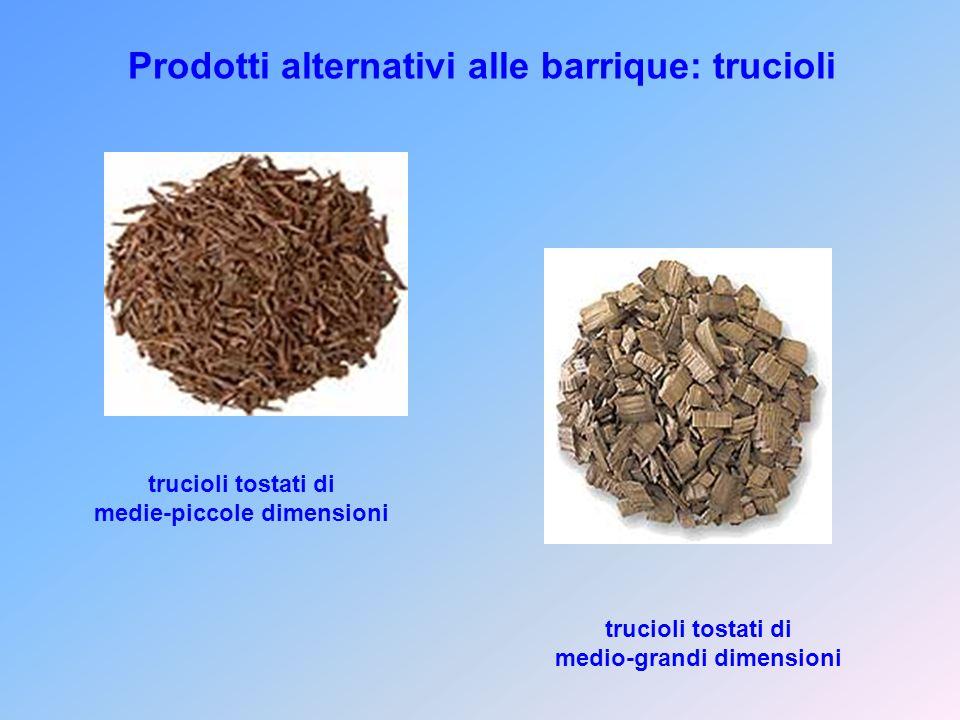 Prodotti alternativi alle barrique: trucioli