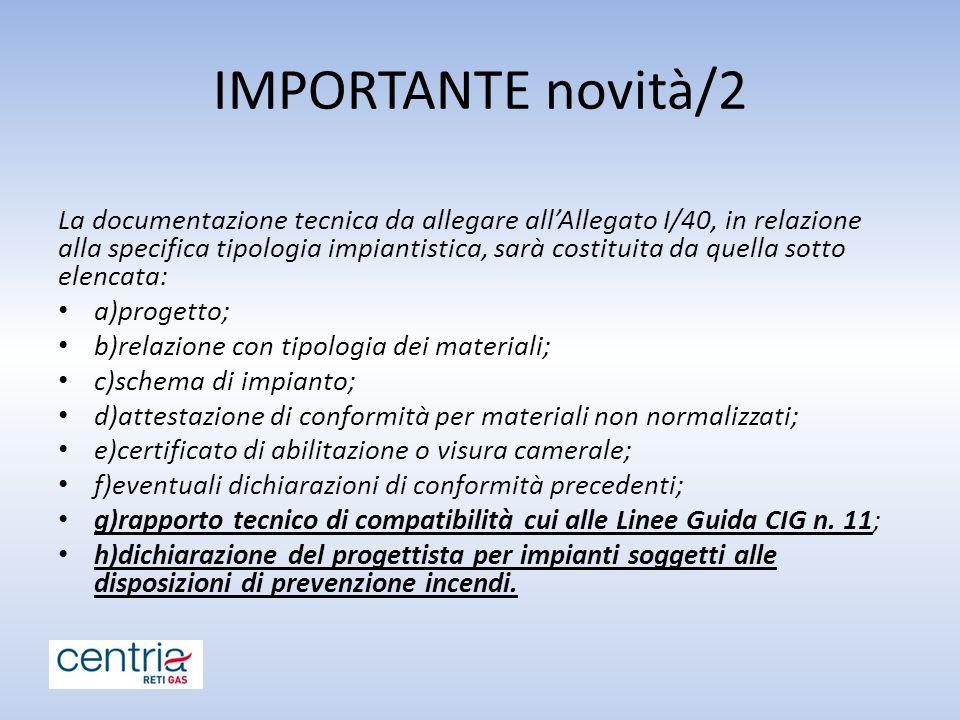 IMPORTANTE novità/2
