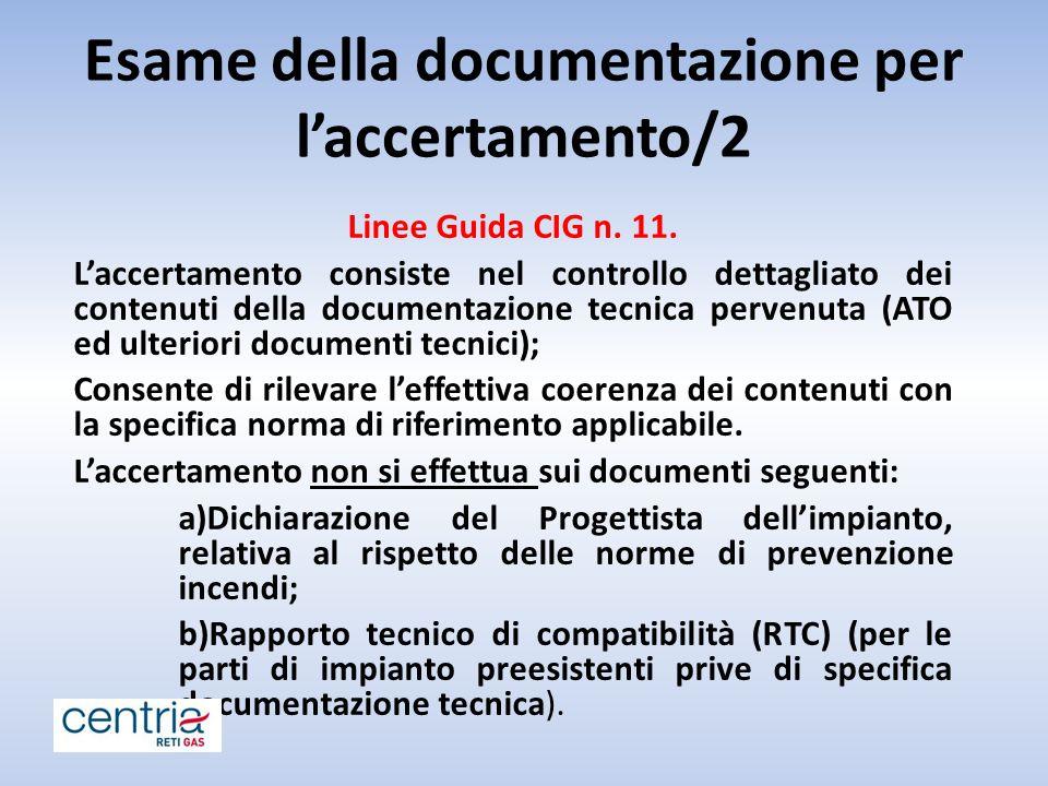 Esame della documentazione per l'accertamento/2
