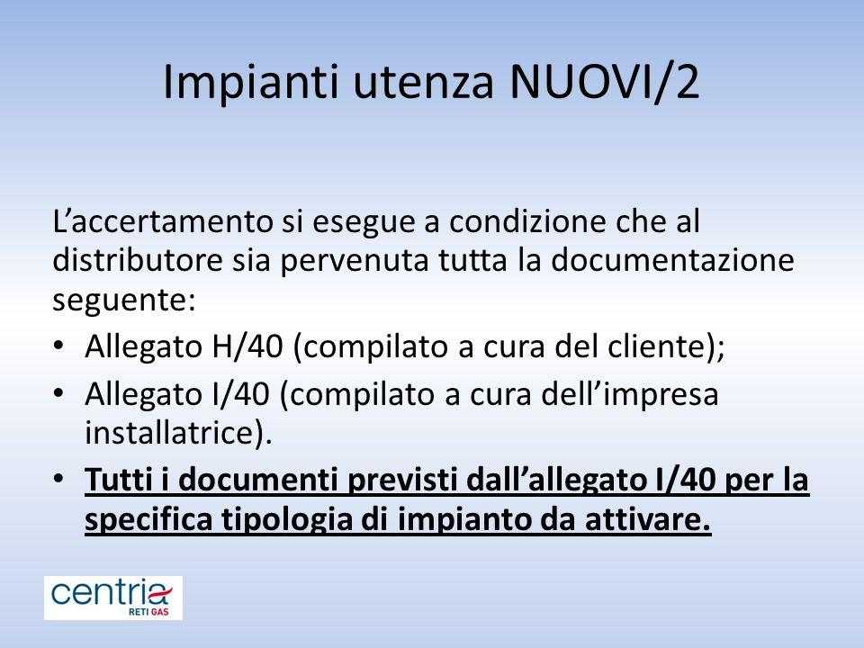 Impianti utenza NUOVI/2