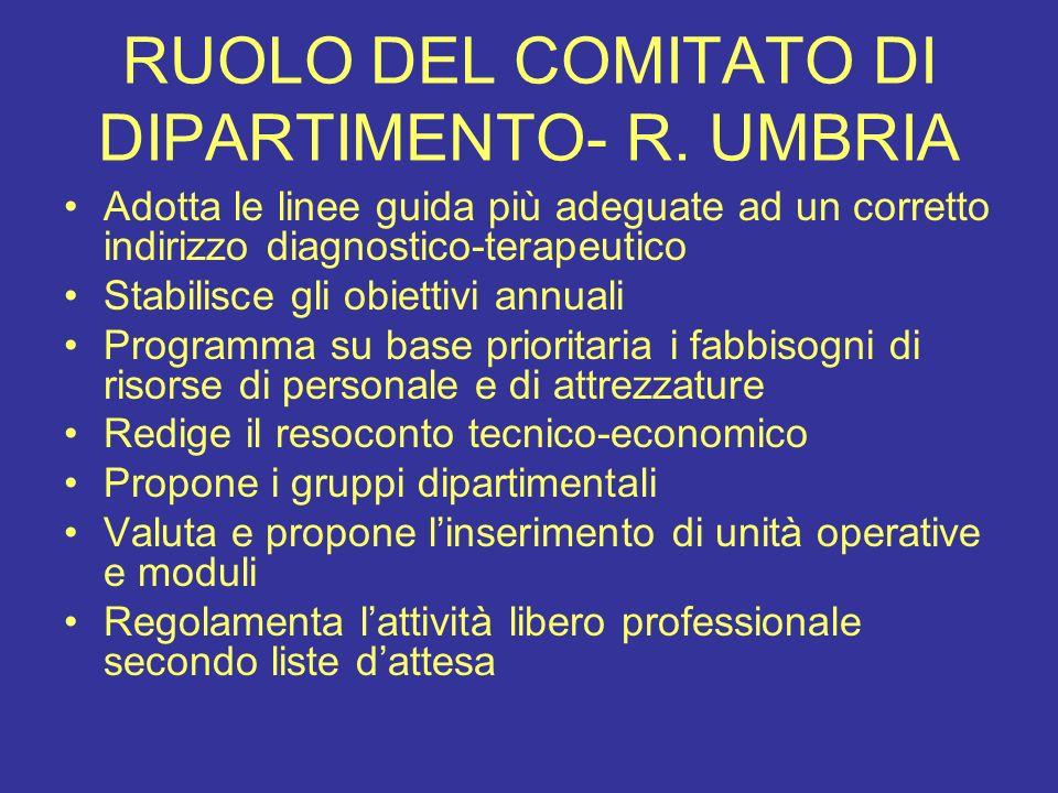RUOLO DEL COMITATO DI DIPARTIMENTO- R. UMBRIA