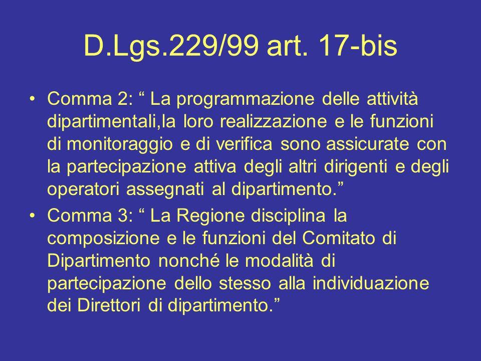 D.Lgs.229/99 art. 17-bis