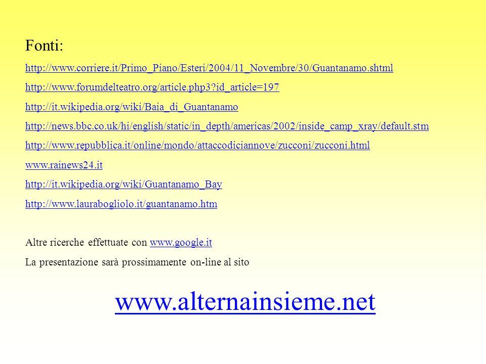 www.alternainsieme.net Fonti: