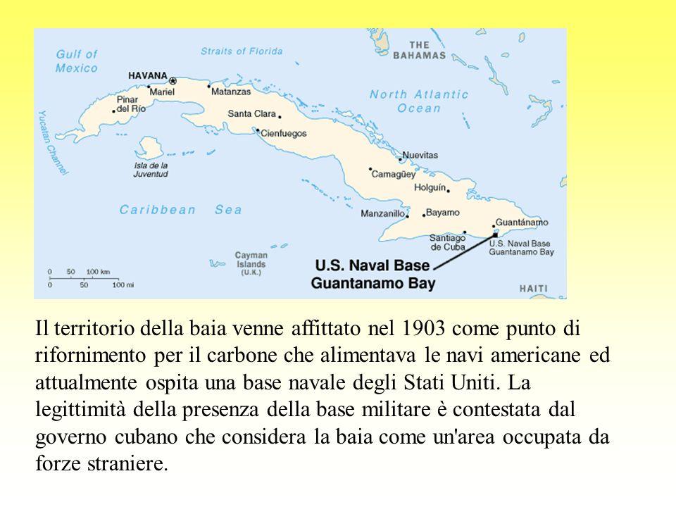 Il territorio della baia venne affittato nel 1903 come punto di rifornimento per il carbone che alimentava le navi americane ed attualmente ospita una base navale degli Stati Uniti.