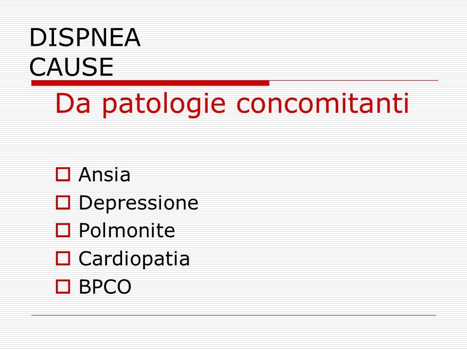 Da patologie concomitanti