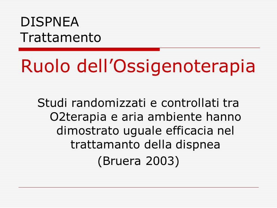 Ruolo dell'Ossigenoterapia