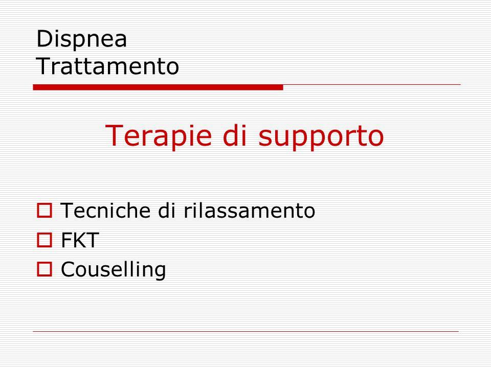 Terapie di supporto Dispnea Trattamento Tecniche di rilassamento FKT