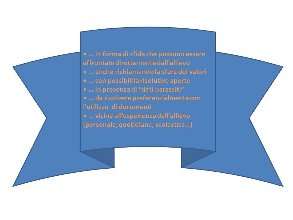 • … in forma di sfide che possono essere affrontate direttamente dall'allievo