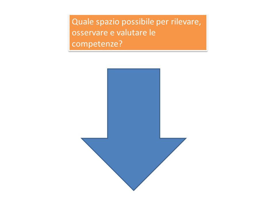 Quale spazio possibile per rilevare, osservare e valutare le competenze