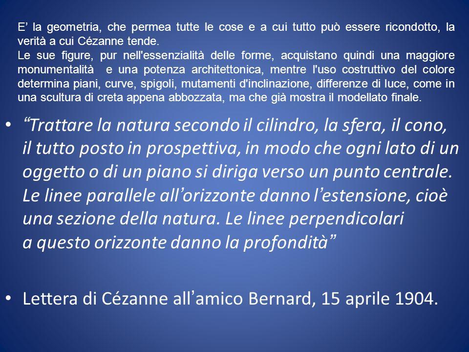 Lettera di Cézanne all'amico Bernard, 15 aprile 1904.
