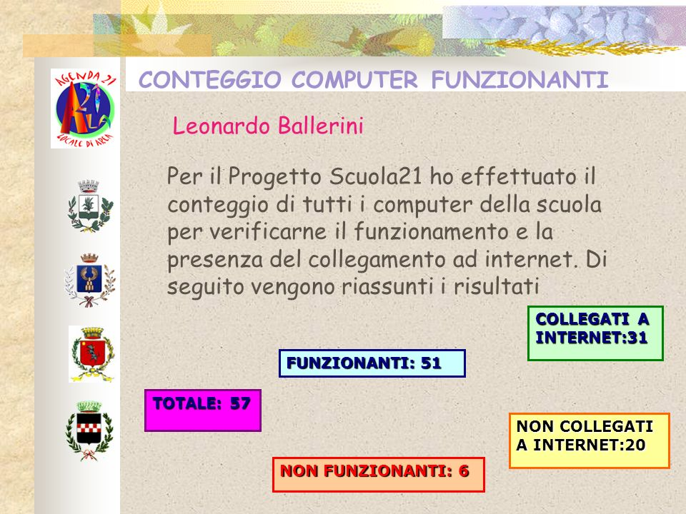 CONTEGGIO COMPUTER FUNZIONANTI