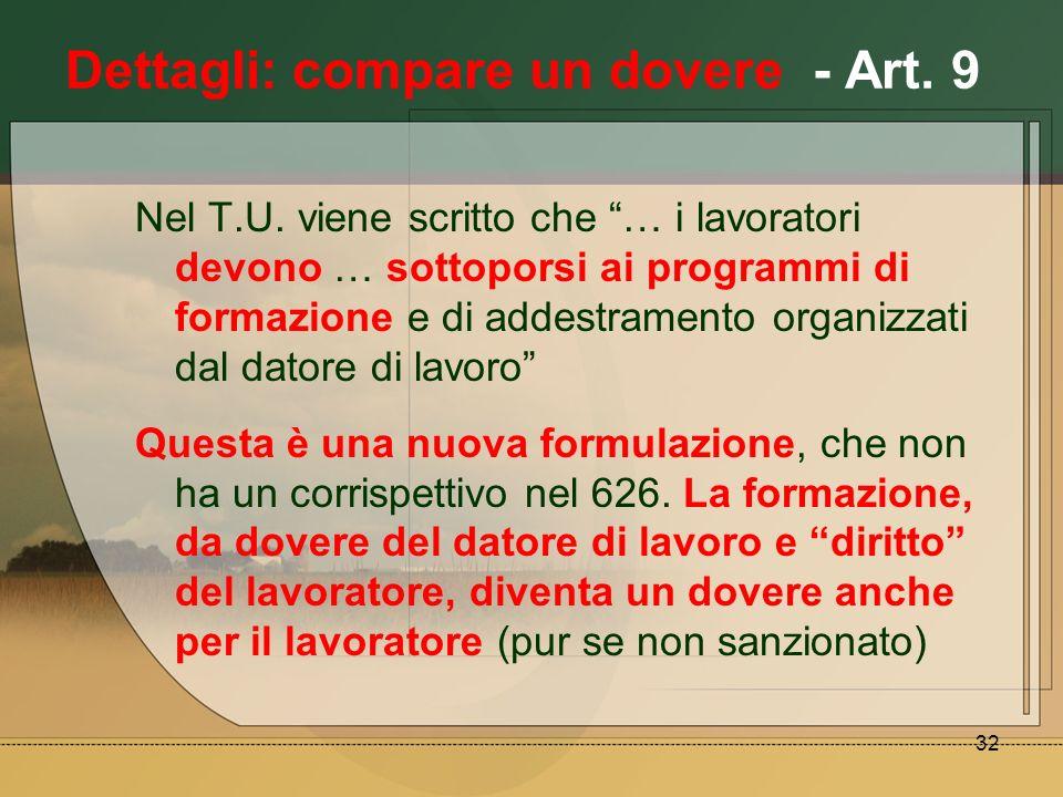 Dettagli: compare un dovere - Art. 9
