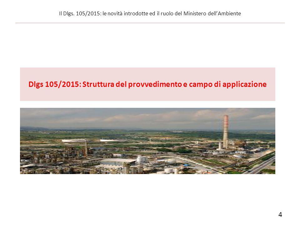 Dlgs 105/2015: Struttura del provvedimento e campo di applicazione