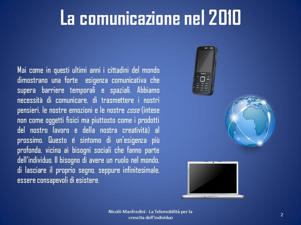 Nicolò Manfredini - La Telemobilità per la crescita dell individuo