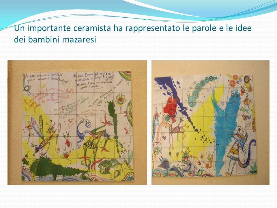 Un importante ceramista ha rappresentato le parole e le idee dei bambini mazaresi