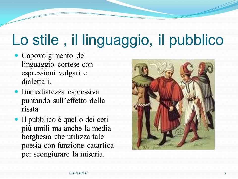 Lo stile , il linguaggio, il pubblico