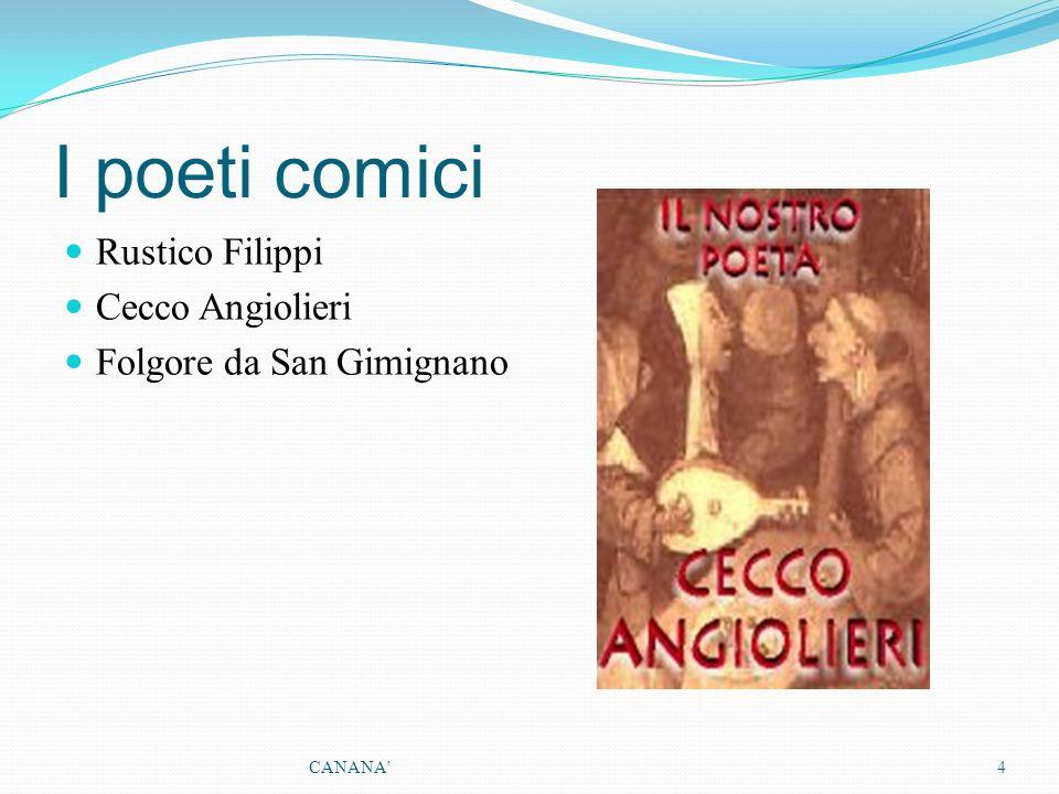 I poeti comici Rustico Filippi Cecco Angiolieri
