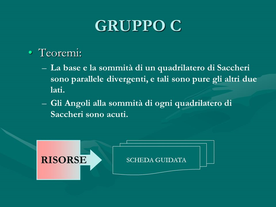 GRUPPO C Teoremi: RISORSE