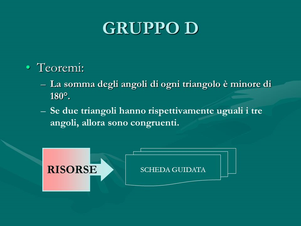 GRUPPO D Teoremi: RISORSE