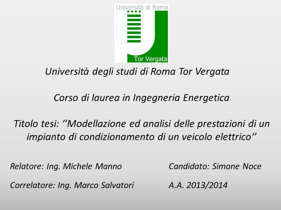 Corso di laurea in Ingegneria Energetica