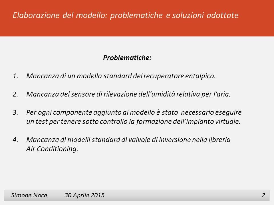 Elaborazione del modello: problematiche e soluzioni adottate