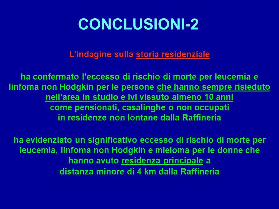 CONCLUSIONI-2 L'indagine sulla storia residenziale