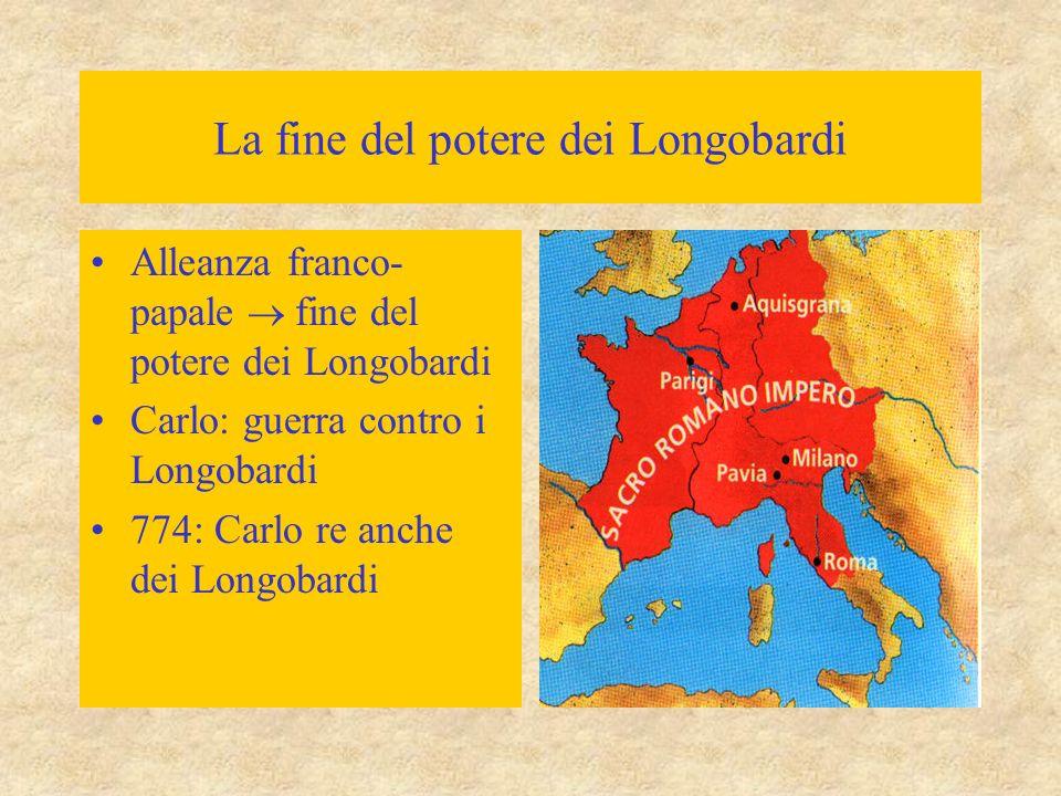La fine del potere dei Longobardi