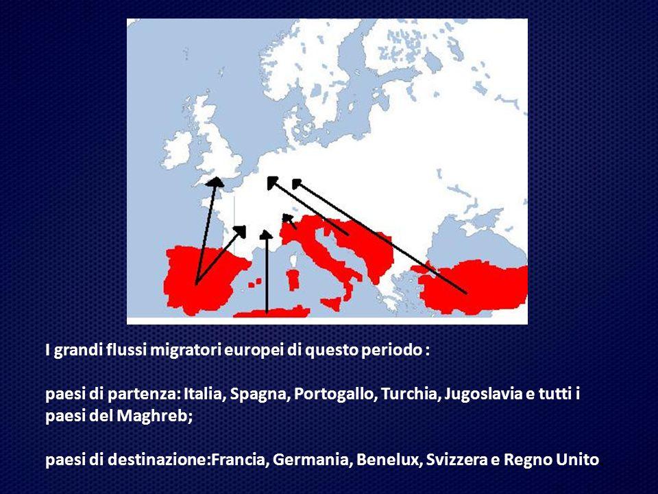 I grandi flussi migratori europei di questo periodo :