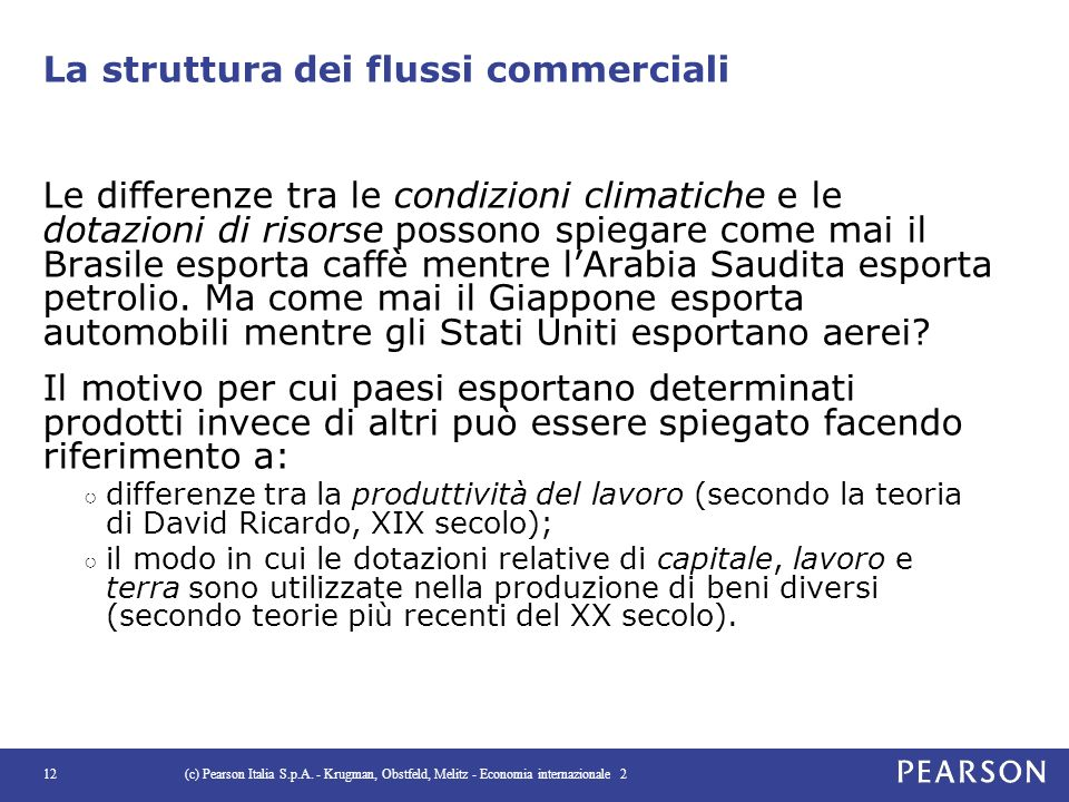 La struttura dei flussi commerciali
