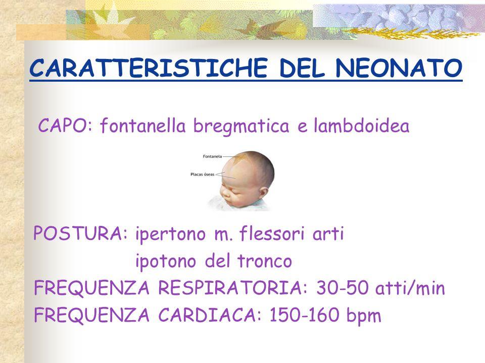 CARATTERISTICHE DEL NEONATO