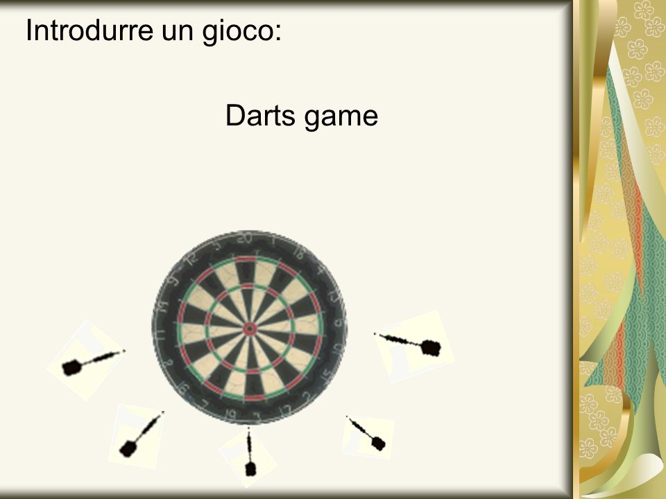 Introdurre un gioco: Darts game