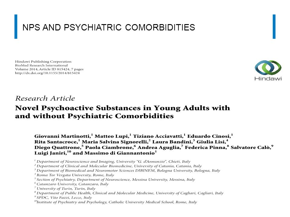 NPS AND PSYCHIATRIC COMORBIDITIES