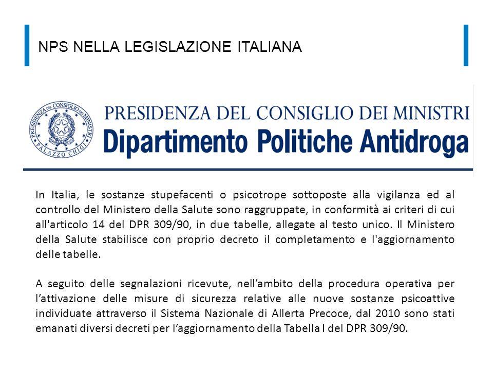 NPS NELLA LEGISLAZIONE ITALIANA