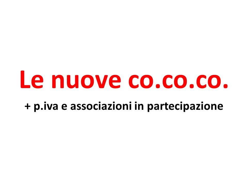 + p.iva e associazioni in partecipazione